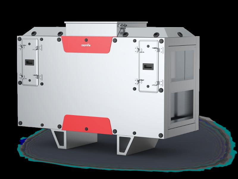 Deph.home EC800 Zentrale Lüftung mit Wärmetauscher